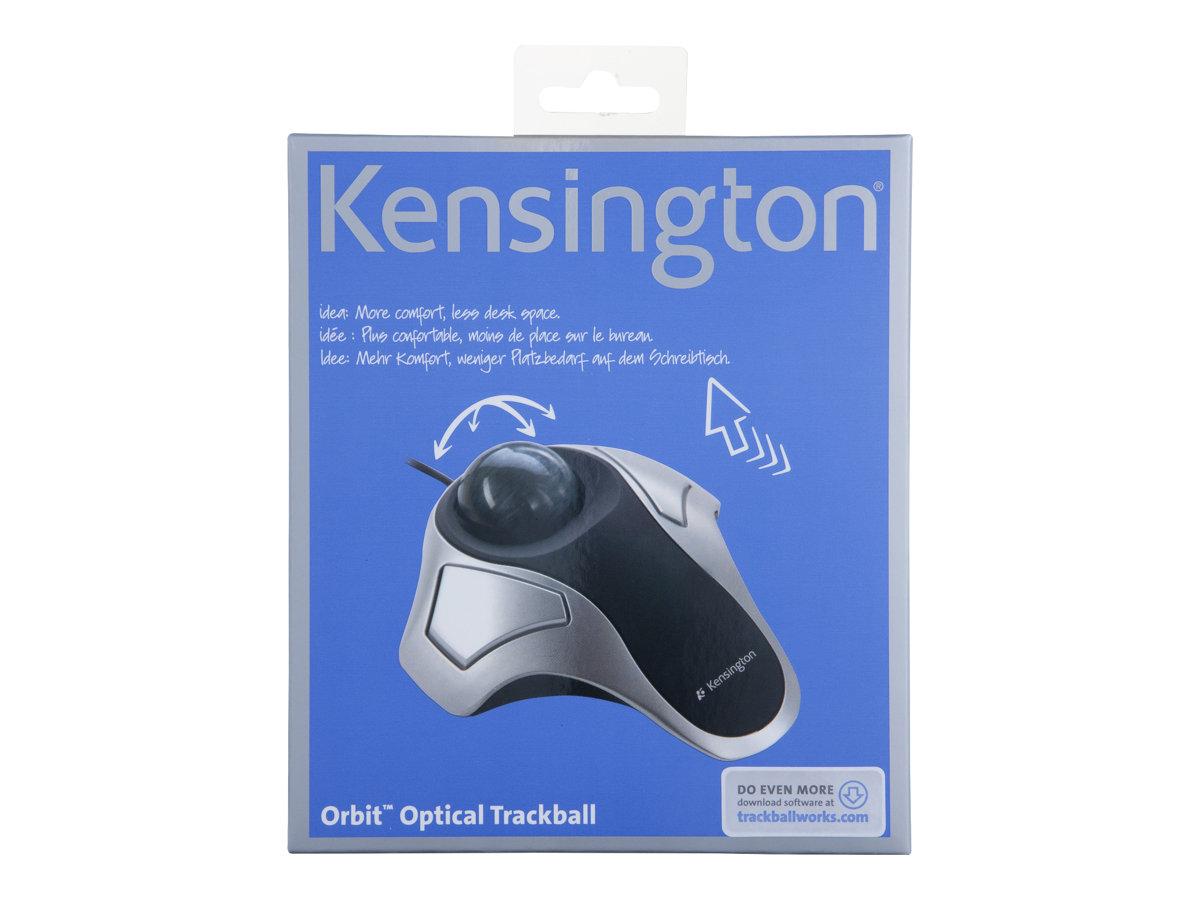 Kensington Orbit Optical Trackball - trackball - USB - silver
