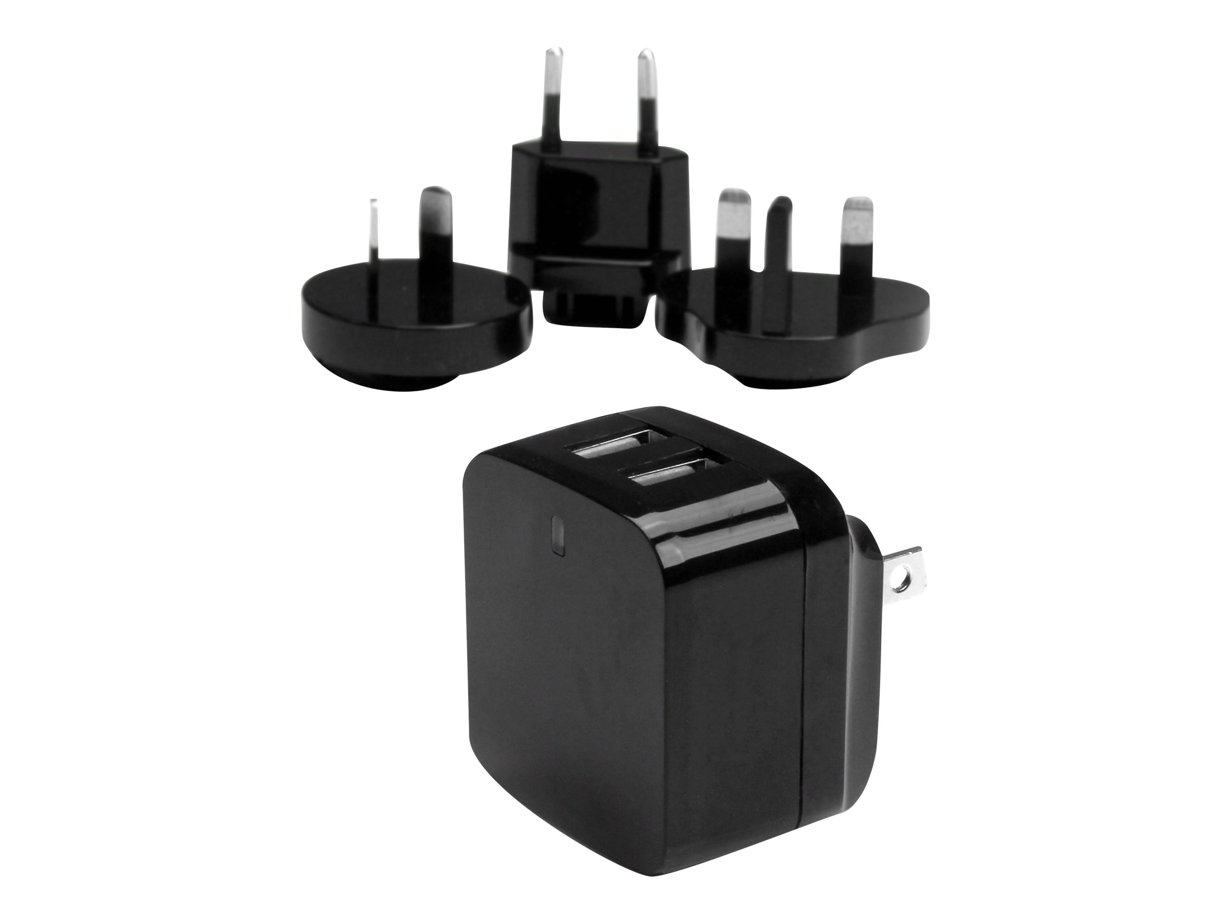 StarTech.com Travel USB Wall Charger - 2 Port - Black - Universal Travel Adapter - International Power Adapter - USB Charger (USB2PACBK) power adapter - USB - 17 Watt