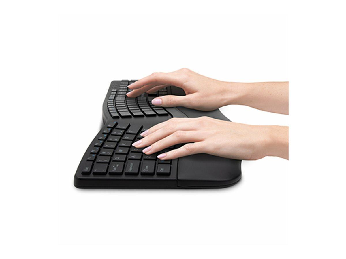 Kensington Pro Fit Ergo Wireless Keyboard - keyboard - US - black