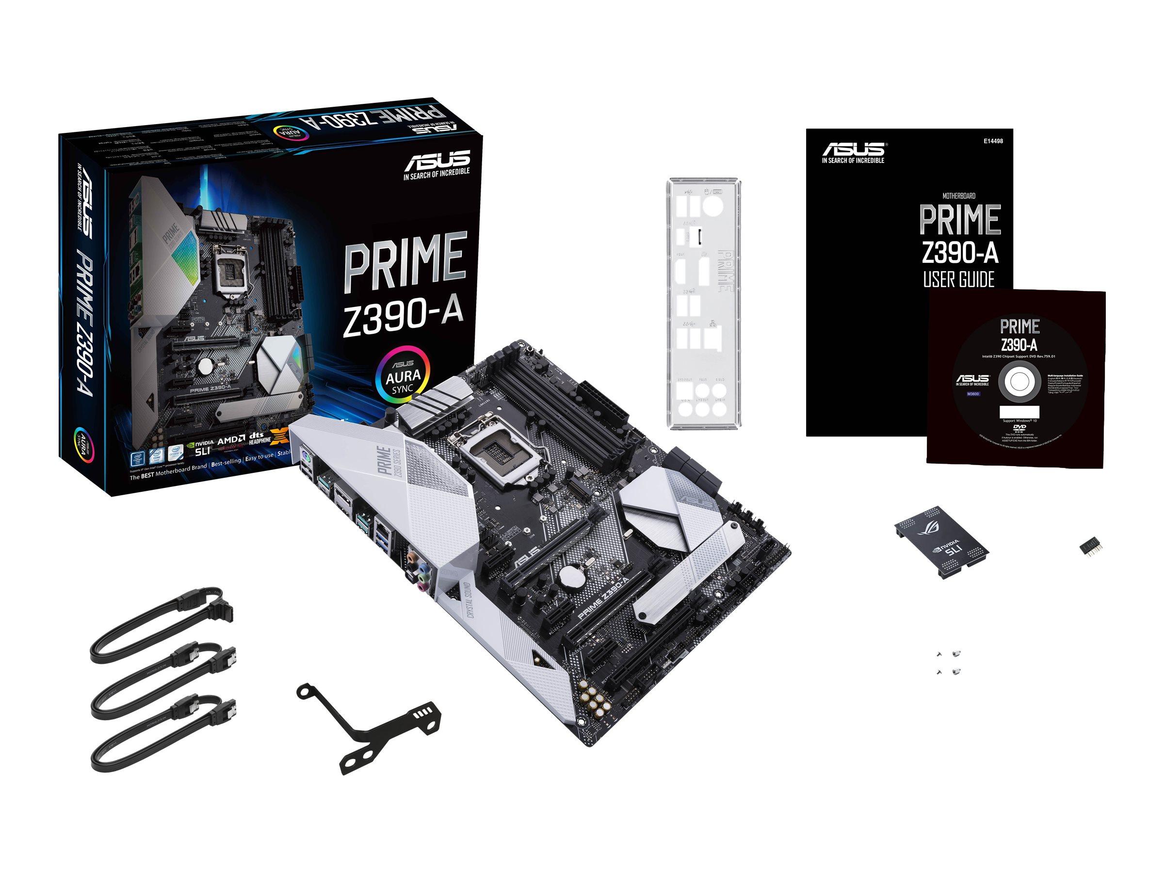 ASUS PRIME Z390-A - motherboard - ATX - LGA1151 Socket - Z390