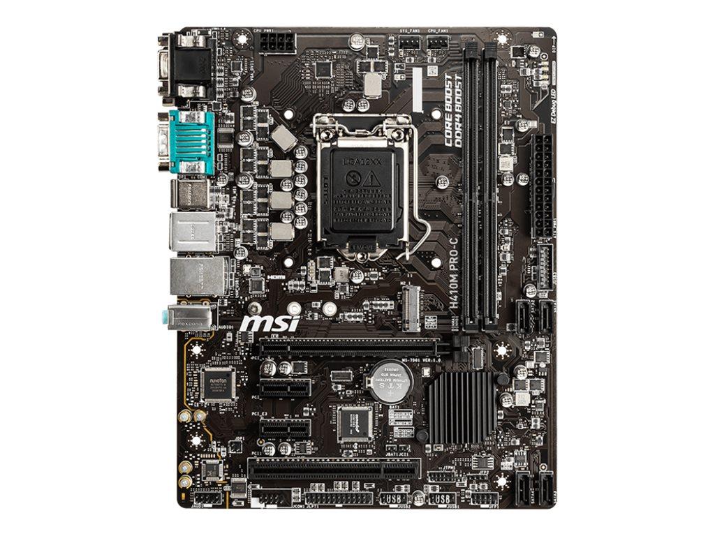 MSI H410M PRO-C - motherboard - micro ATX - LGA1200 Socket - H410