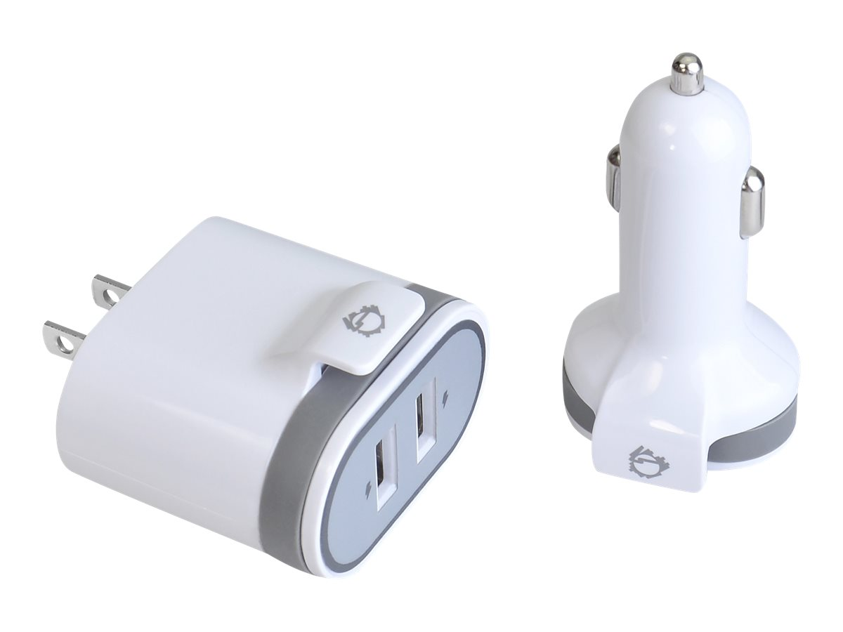 SIIG Fast Charging USB Wall Charger & Car Charger Bundle Pack power adapter kit