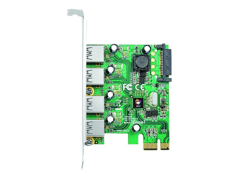 SIIG 4 Port USB 3.0 PCIe - USB adapter - PCIe 2.0 - USB 3.0 x 4