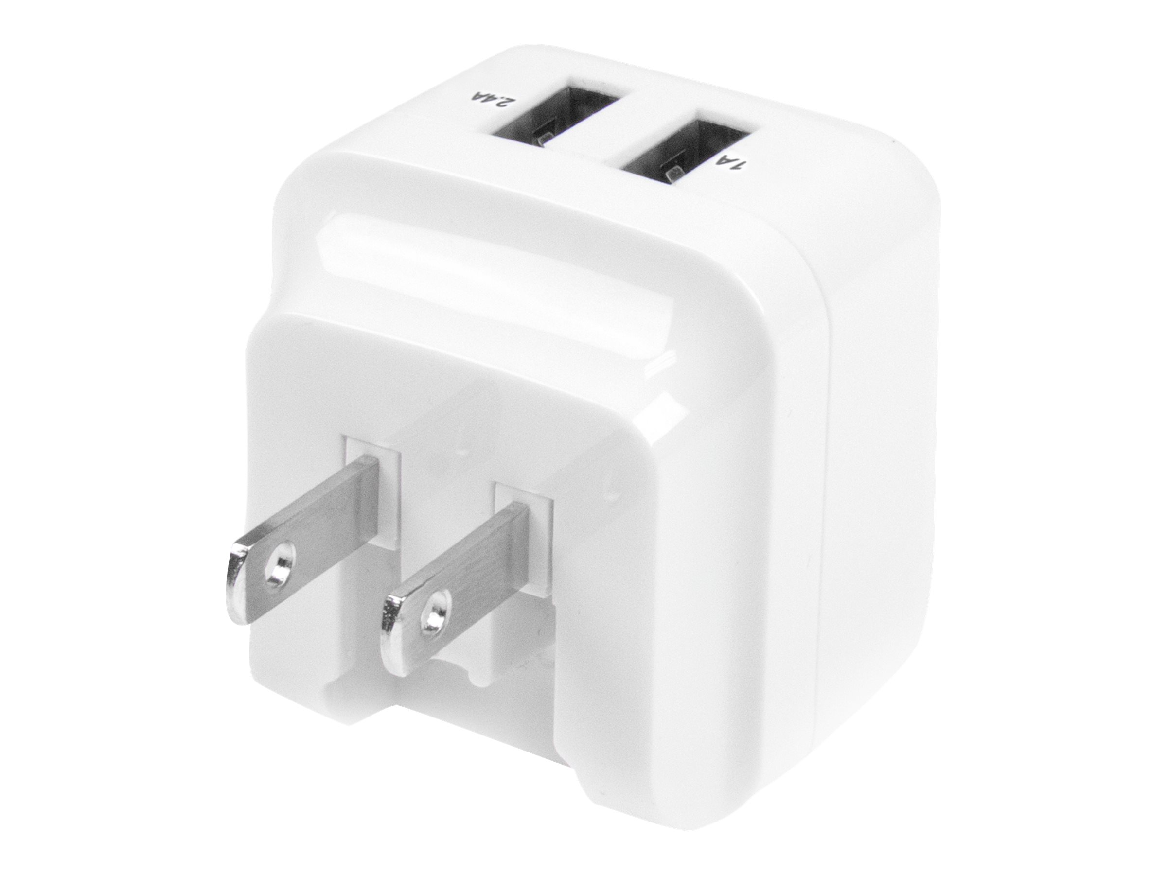 StarTech.com Dual Port USB Wall Charger 17W/3.4A - Travel Charger 110V/220V power adapter - USB - 17 Watt