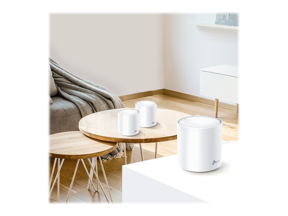 TP-Link Deco X60 - Wi-Fi system - 802.11a/b/g/n/ac/ax - desktop