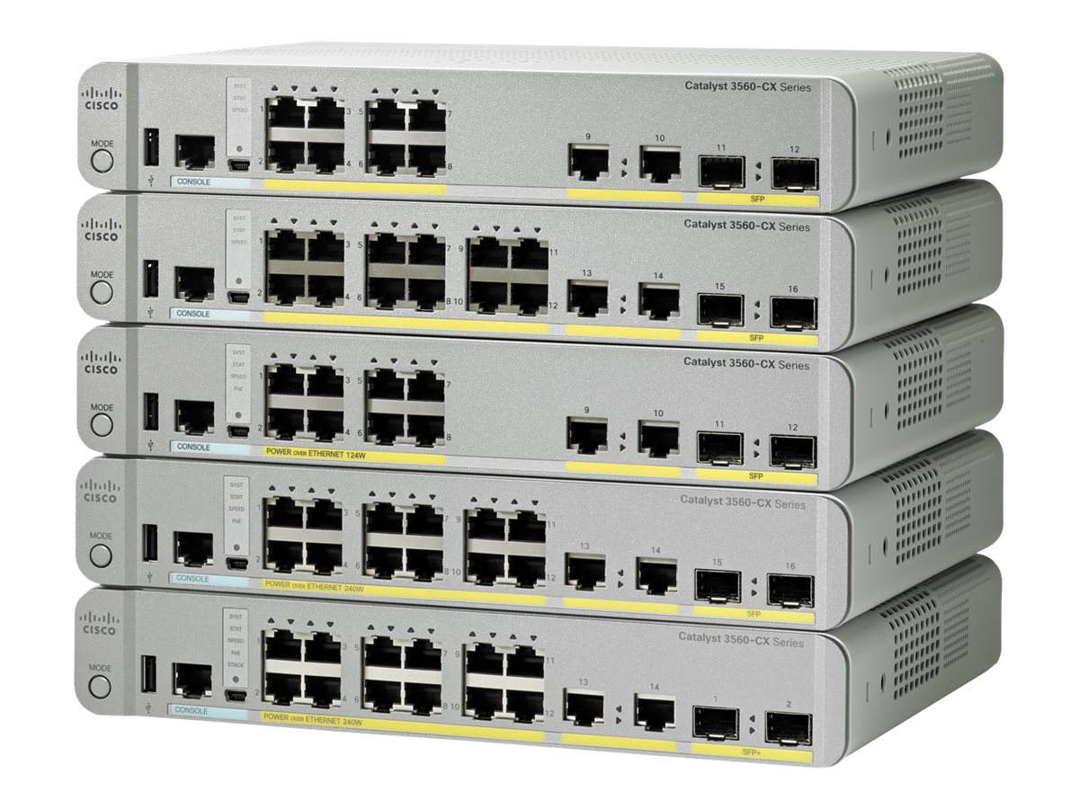 Cisco Catalyst 3560CX-12TC-S - switch - 12 ports - managed - rack-mountable