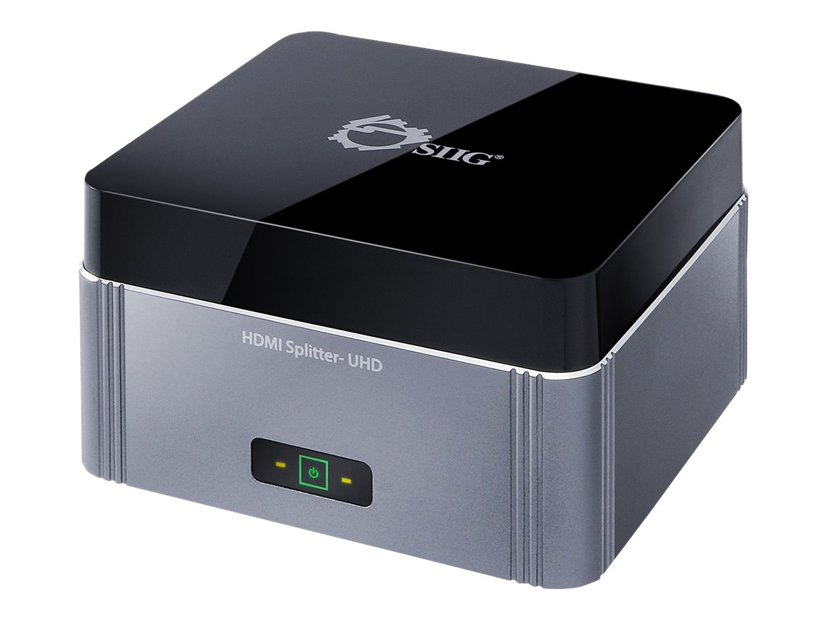 SIIG Premium CE-H22K12-S1 - video/audio splitter - 2 ports