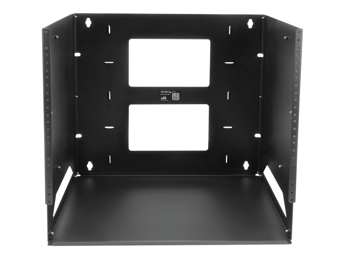 StarTech.com 8U Open Frame Wall Mount Network Rack w/ Built in Shelf - 2-Post Adjustable Depth (12