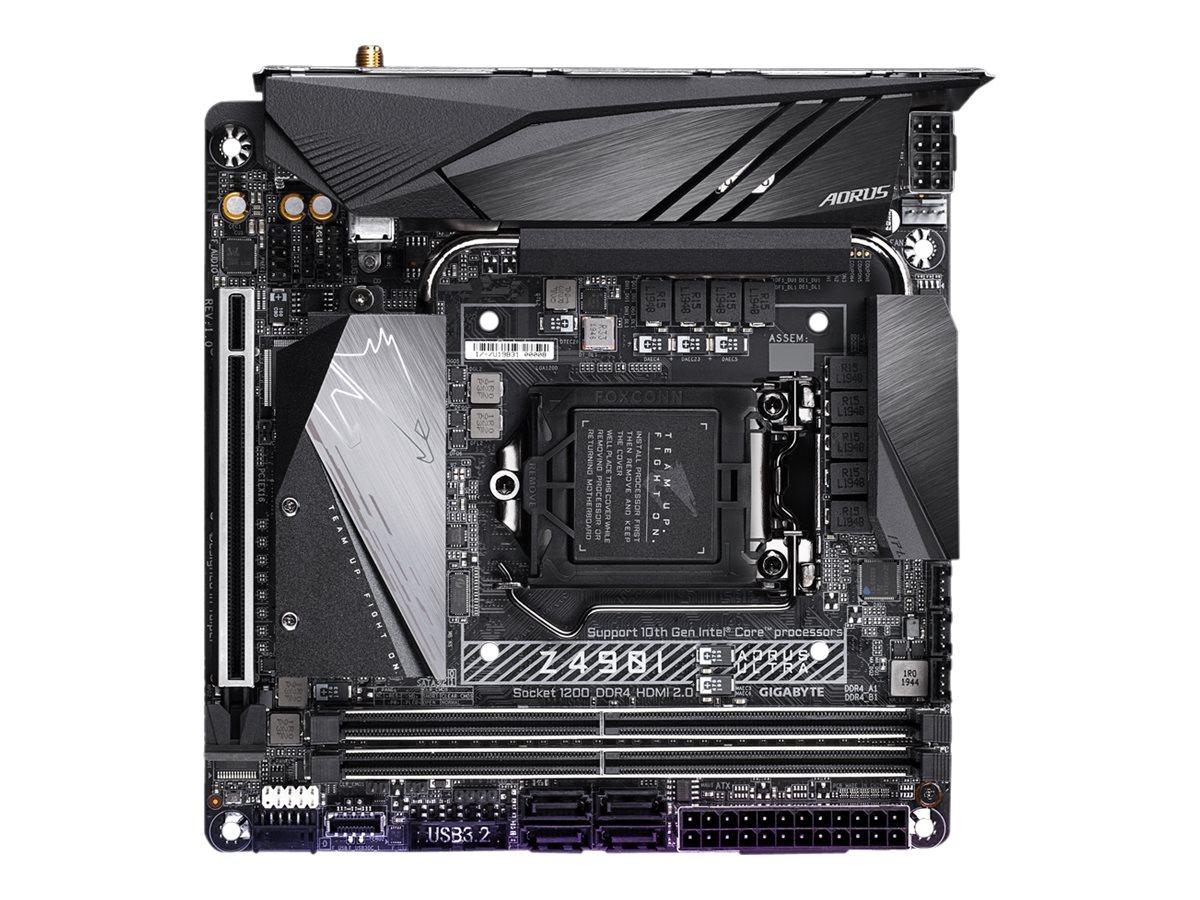 Gigabyte Z490I AORUS ULTRA - 1.X - motherboard - mini ITX - LGA1200 Socket - Z490