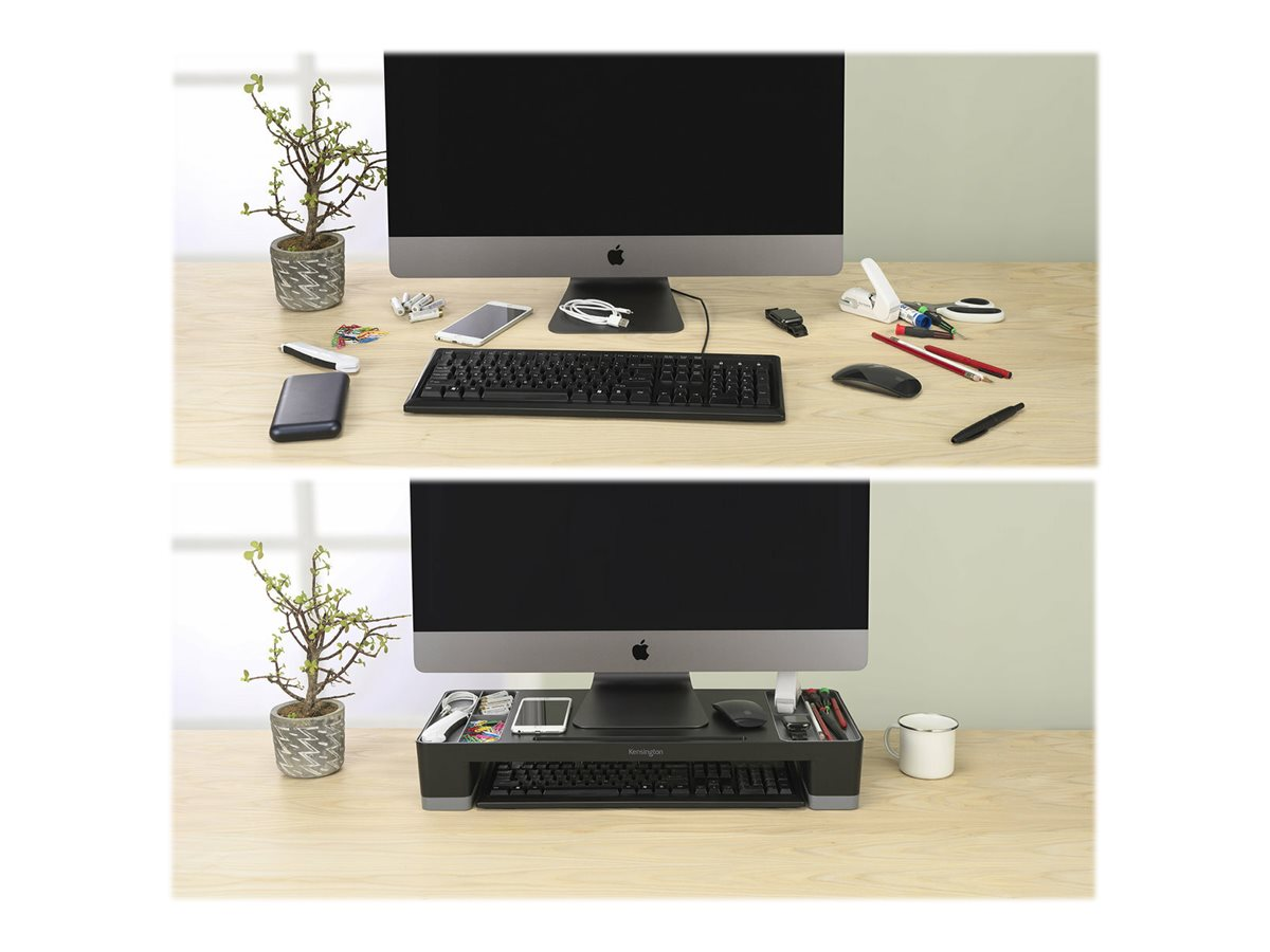 Kensington Organizing Monitor Stand - monitor height-adjustable stand