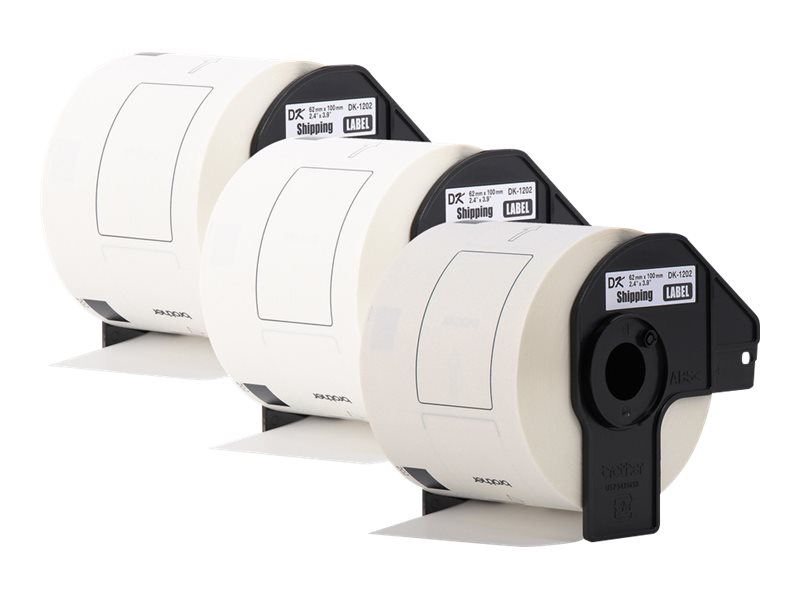 Brother DK-12023PK - die cut shipping paper labels - 900 label(s) - 2.44 in x 3.94 in