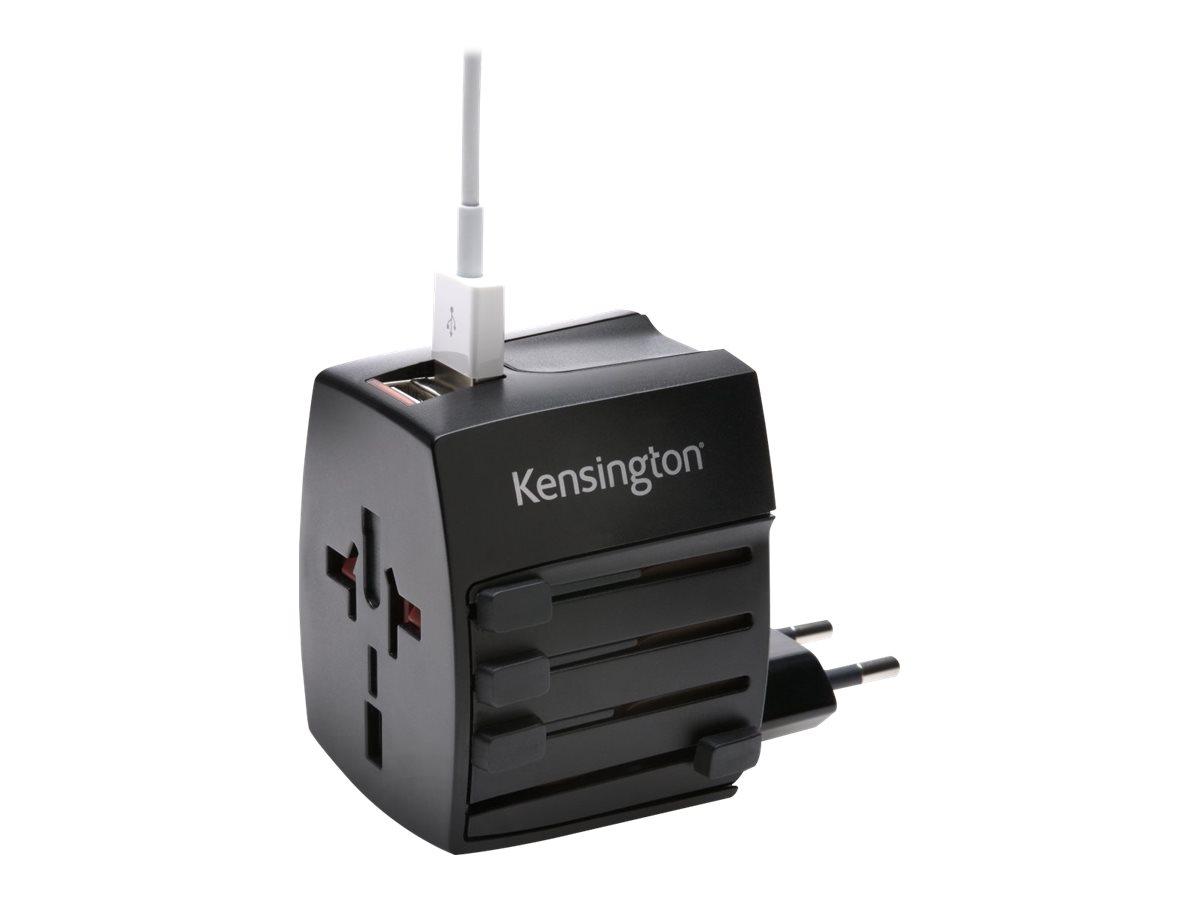 Kensington International Travel Adapter power adapter - BS 1363, NEMA 1-15, Europlug, AS/NZS 3112, 2 x USB