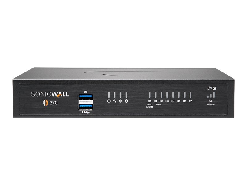 SonicWall TZ370 - Essential Edition - security appliance - with 1 year TotalSecure