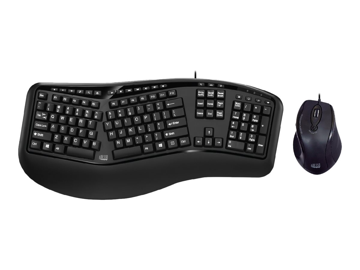 Adesso Tru-Form 150 - keyboard and mouse set - US ...