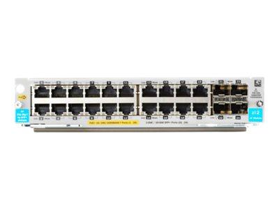 HPE - expansion module - Gigabit Ethernet (PoE+) x 20 + Gigabit Ethernet / 10 Gigabit SFP+ x 4