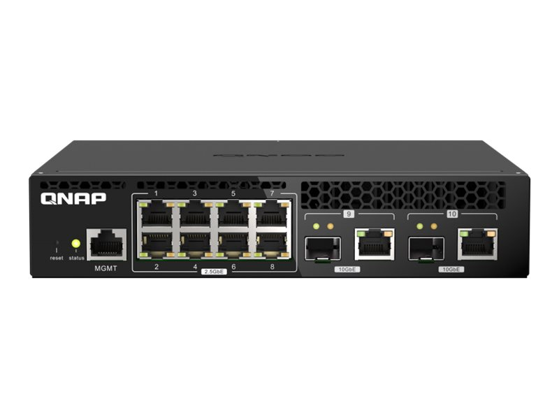 QNAP QSW-M2108R-2C - switch - 10 ports - managed - rack-mountable