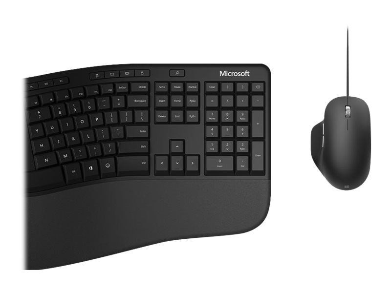 Microsoft Ergonomic Desktop for Business - keyboard and mouse set - QWERTY - English - black