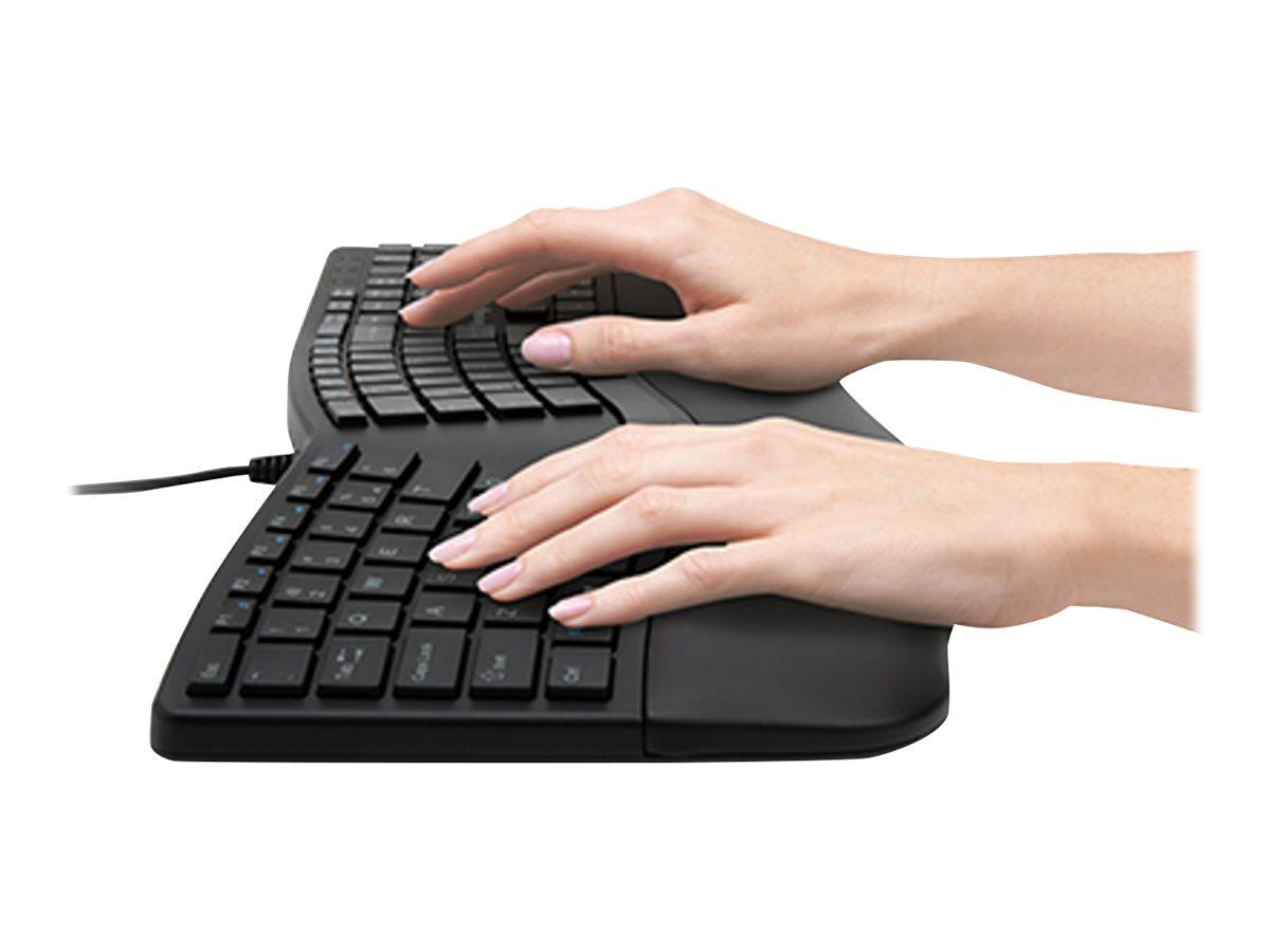 Kensington Pro Fit Ergo Wired Keyboard - keyboard - US - black