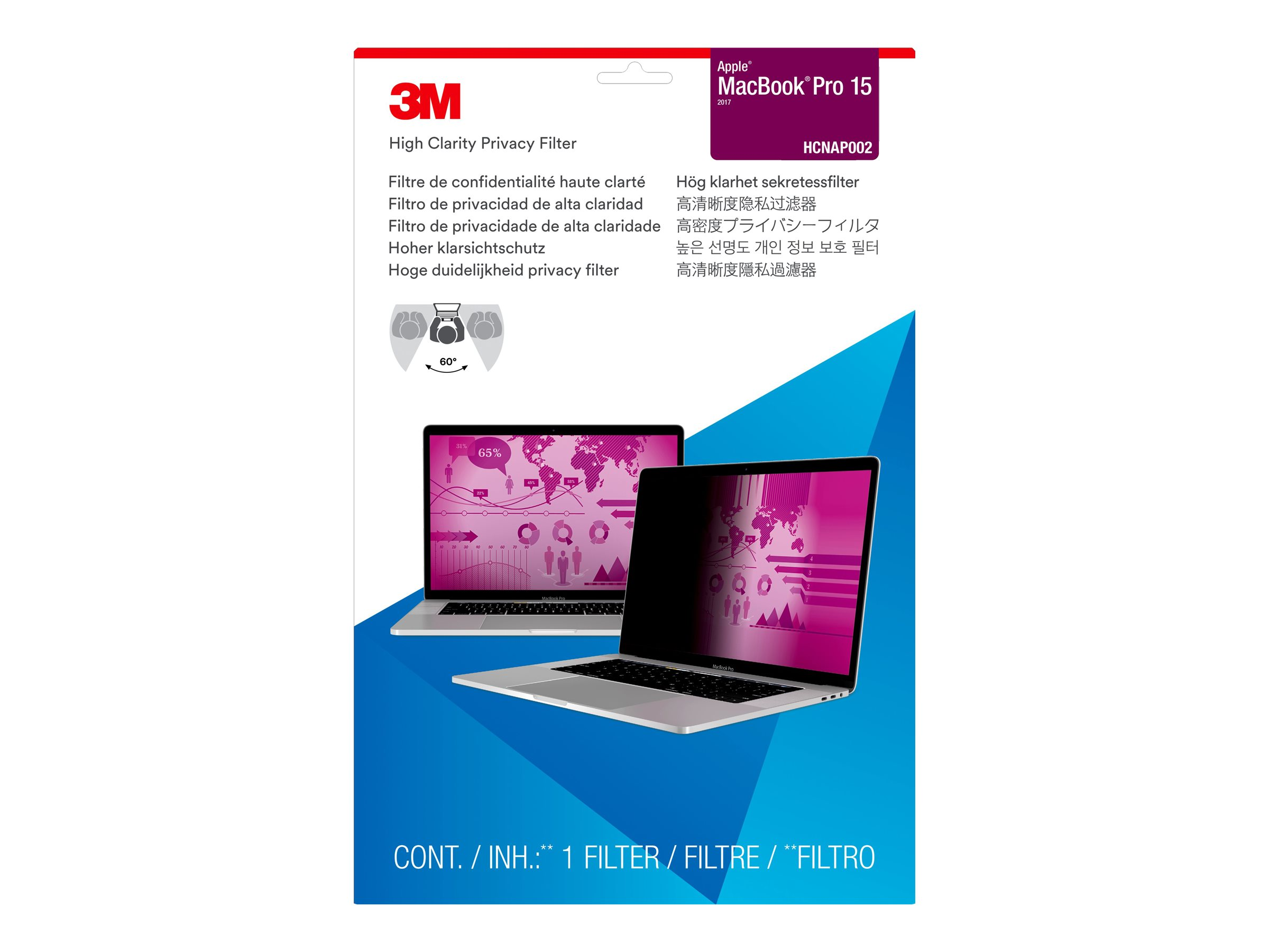 3M High Clarity Privacy Filter for Apple MacBook Pro 15
