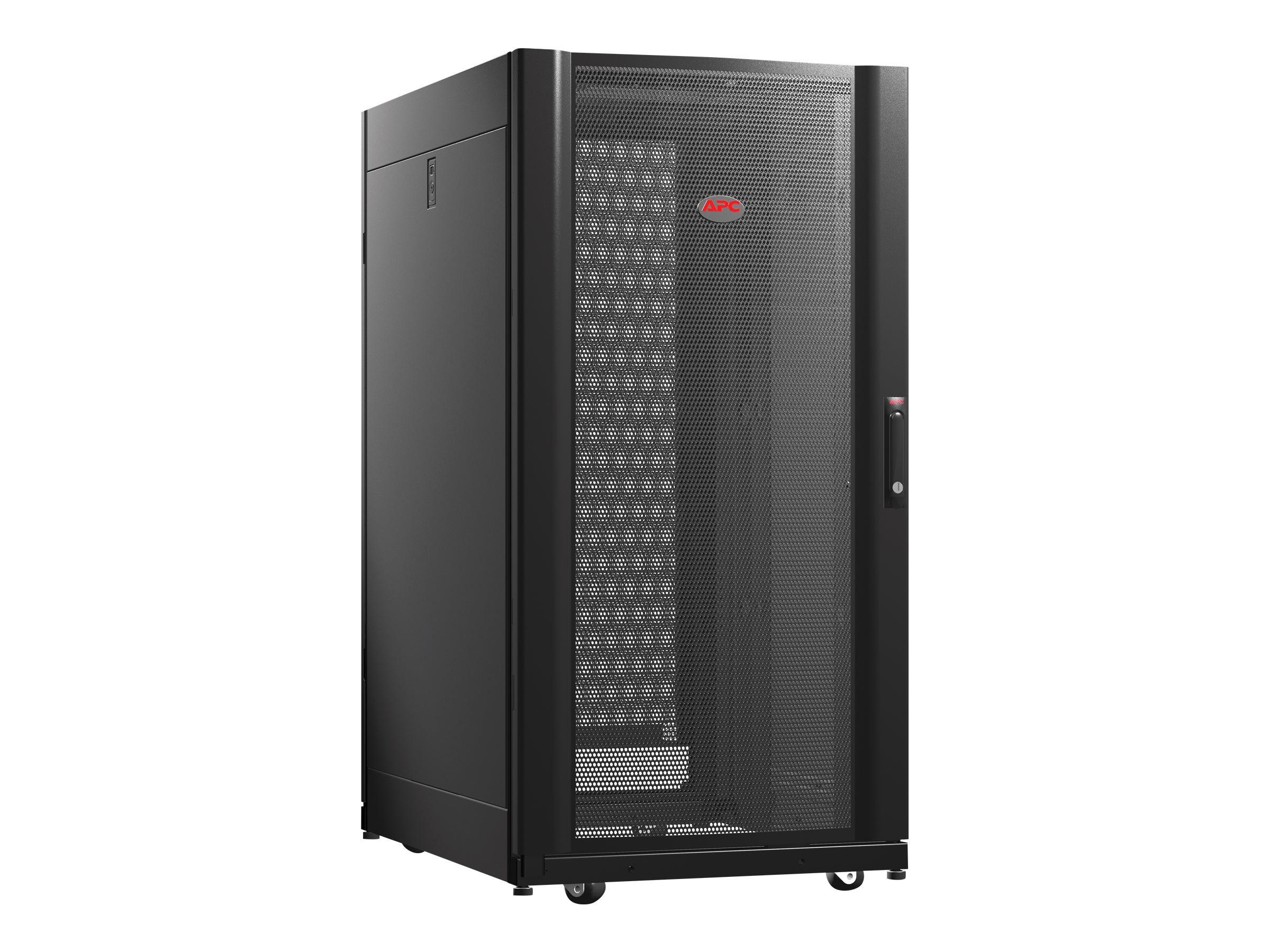 APC NetShelter AV Enclosure with Sides and 10-32 Threaded Rails rack - 24U