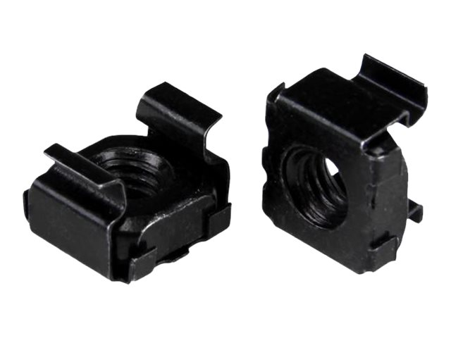 StarTech.com M5 Cage Nuts - 50 Pack, Black - M5 Mounting Cage Nuts for Server Rack & Cabinet (CABCAGENUTSB) cage nuts