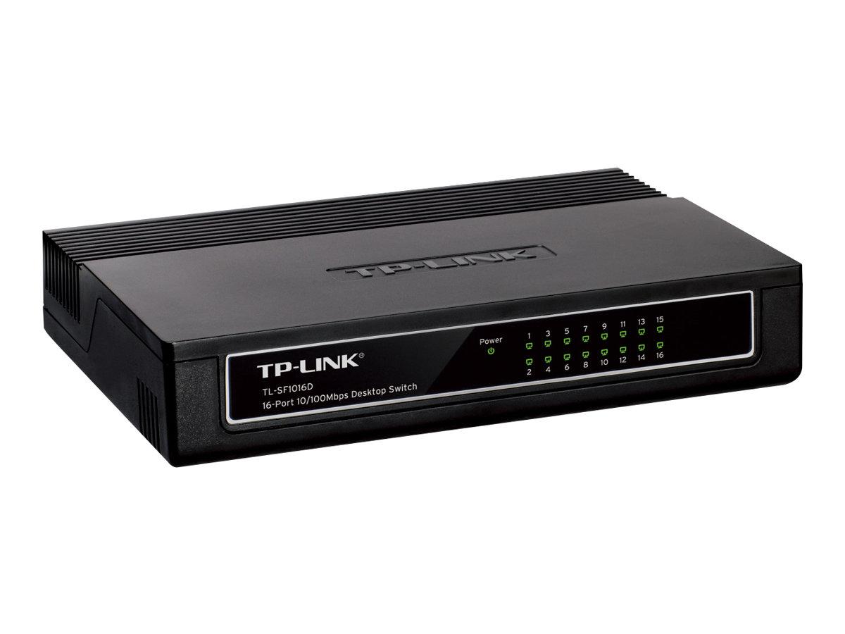 TP-Link TL-SF1016D 16-Port 10/100Mbps Desktop Switch - switch - 16 ports