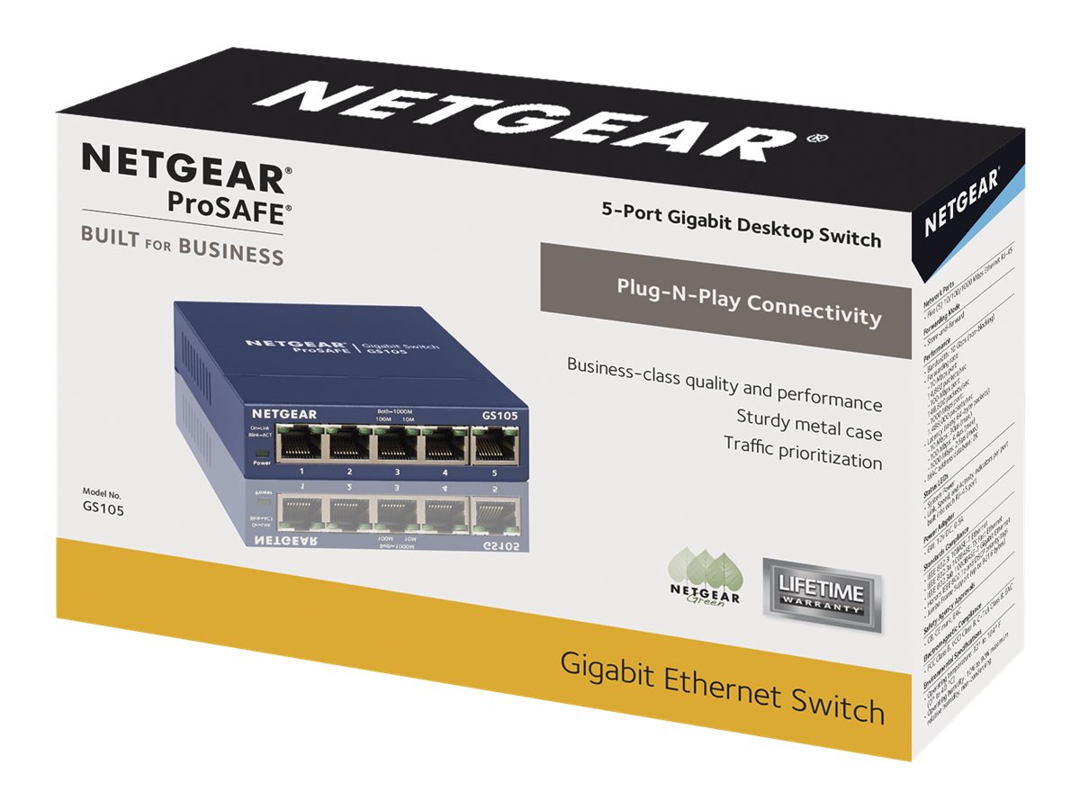 NETGEAR GS105 - switch - 5 ports