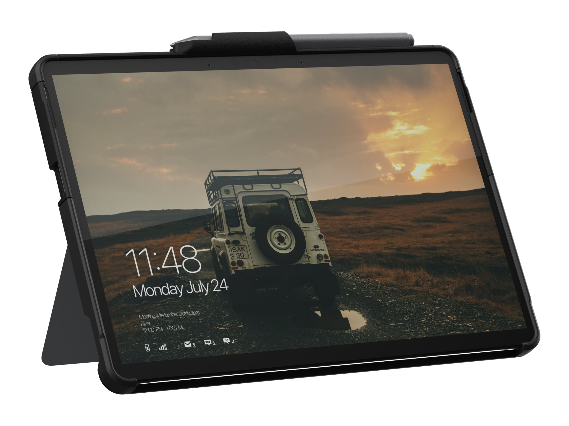 UAG Rugged Case for Microsoft Surface Go 2 Non Retail - Scout Black - back cover for tablet