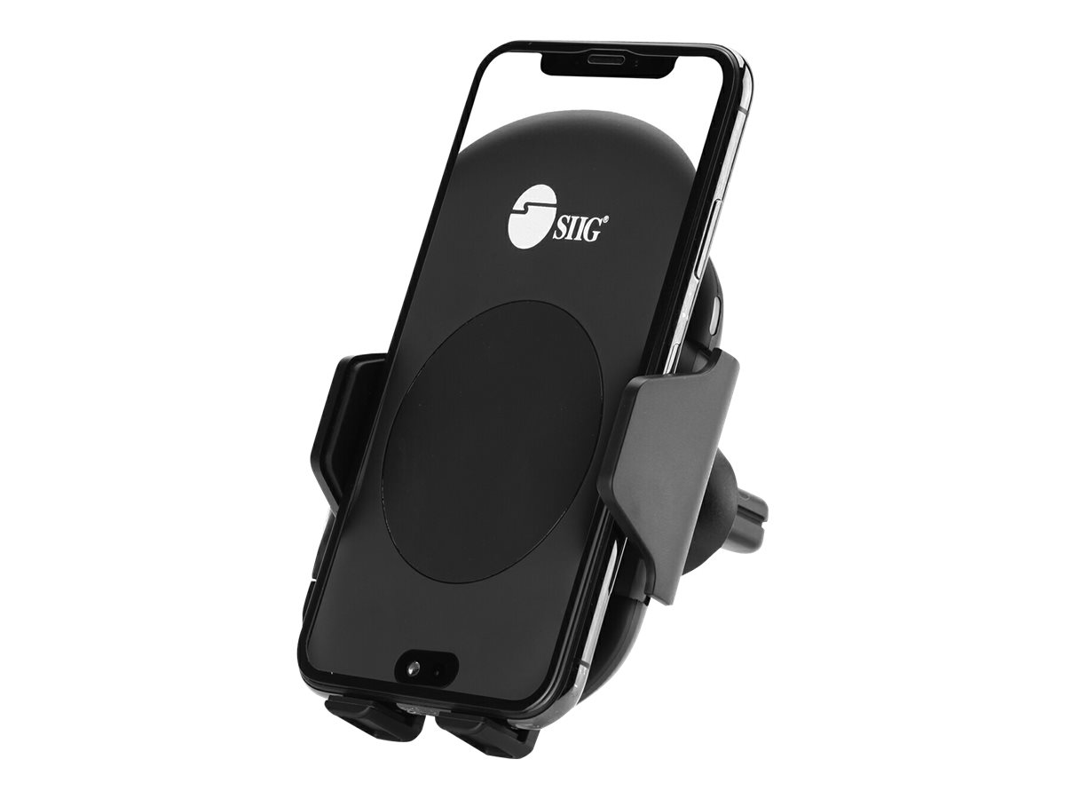 SIIG Auto-Clamping Wireless Car Charger Mount/Stand car wireless charging holder - 10 Watt