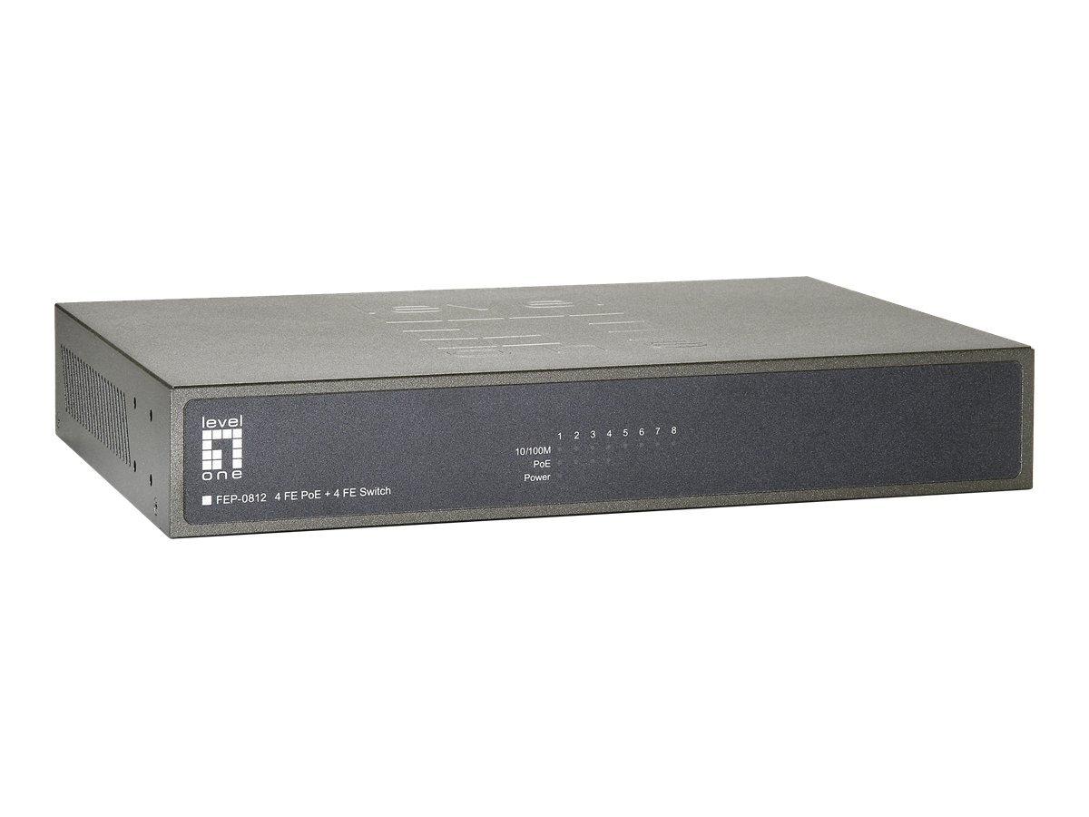 LevelOne FEP-0812 - switch - 8 ports - unmanaged - rack-mountable