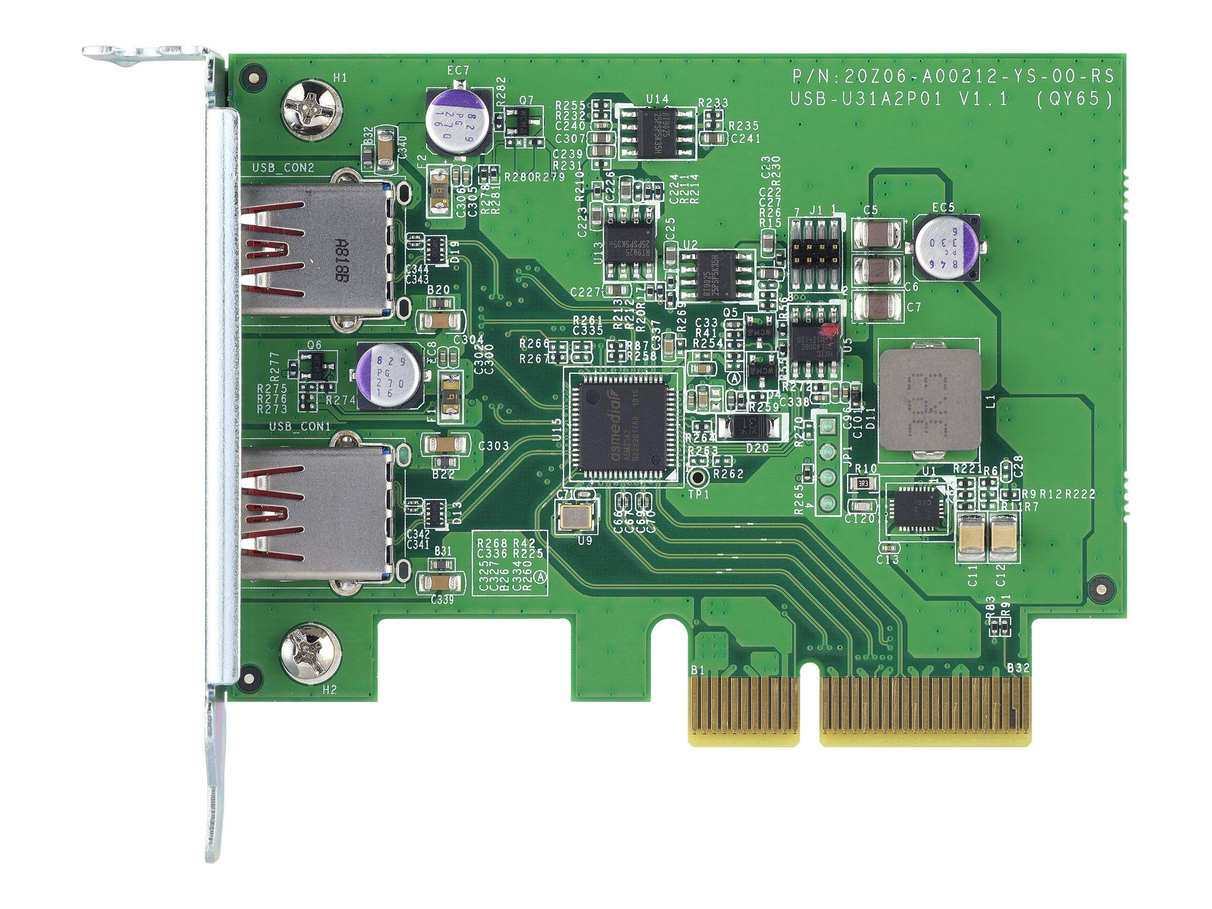 QNAP QXP-10G2U3A - USB adapter - PCIe 2.0 x2 - USB 3.2 Gen 2 x 2