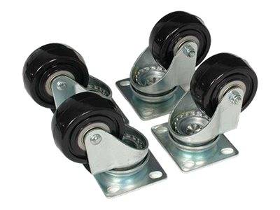 StarTech.com 4-Piece Caster Kit for Open Frame Rack - TAA Compliant Heavy Duty Casters - Includes Installation Hardware (4POSTRACK) rack casters kit