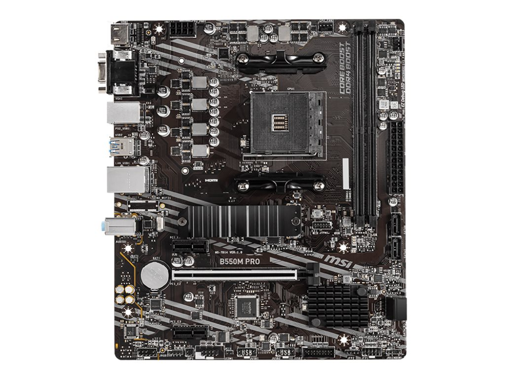 MSI B550M PRO - motherboard - micro ATX - Socket AM4 - AMD B550