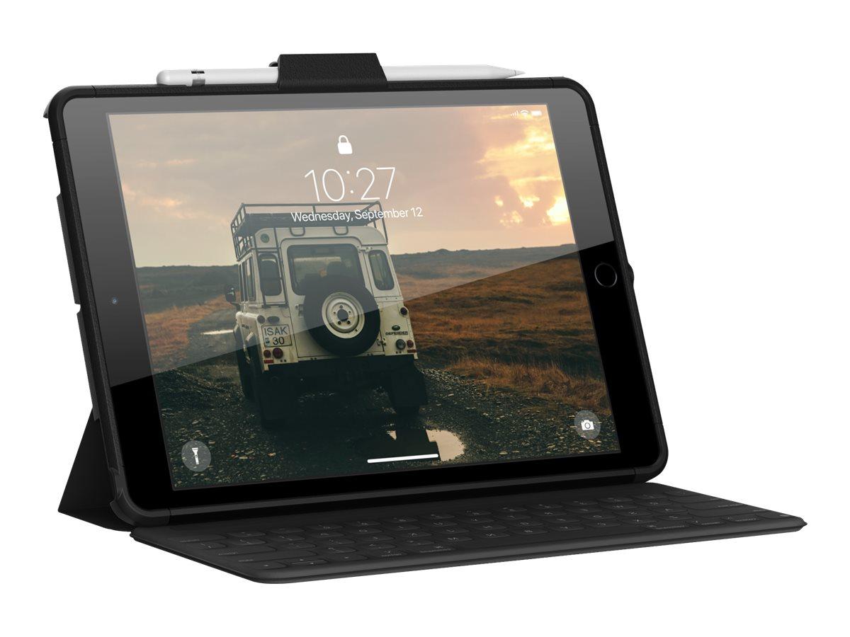 UAG Rugged Case for iPad 10.2-in (7/8 Gen, 2019/2020) - Scout w/ Handstrap Black - back cover for tablet