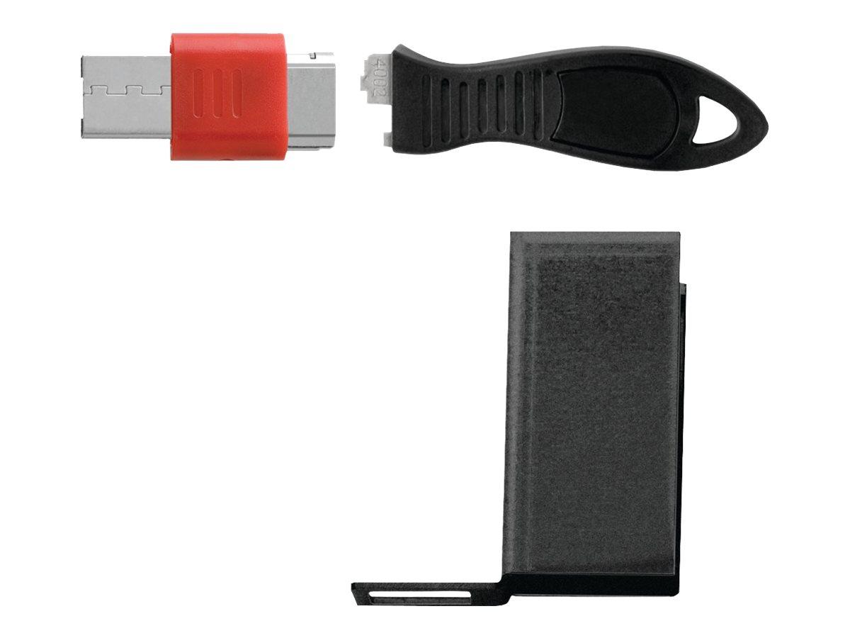 Kensington USB Port Lock with Cable Guard - Rectangular USB port blocker