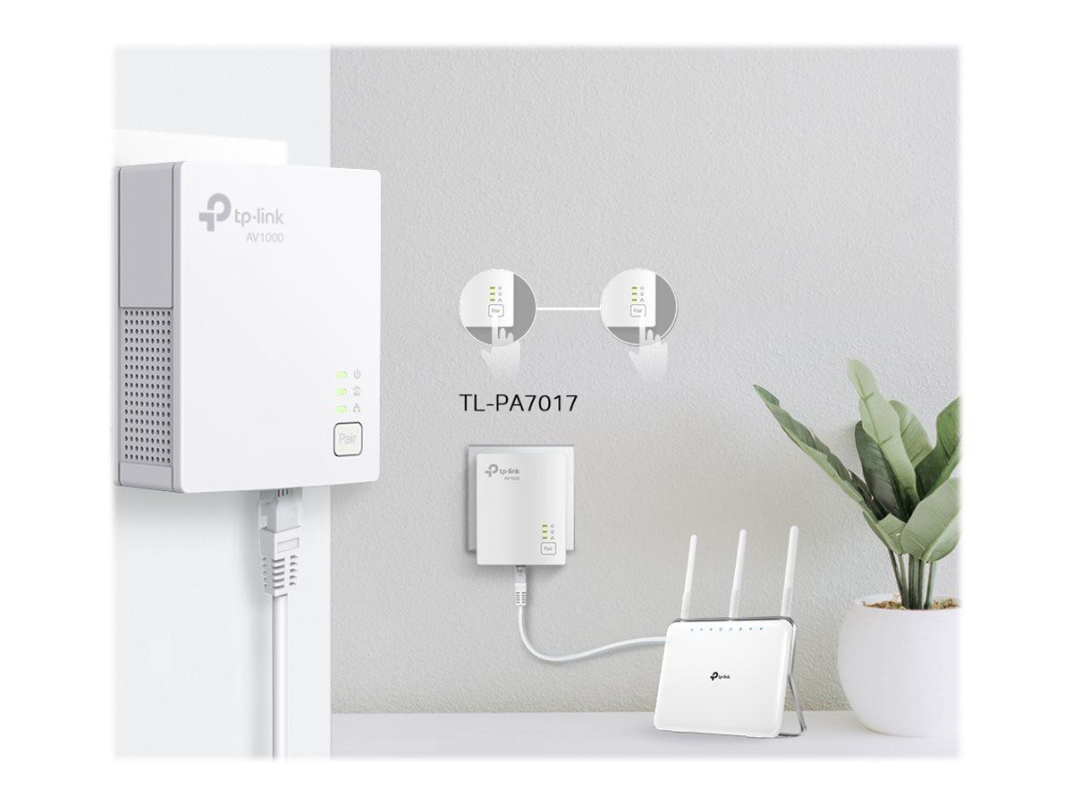 TP-Link TL-PA7017 KIT - V4 - Powerline Starter Kit - bridge - wall-pluggable