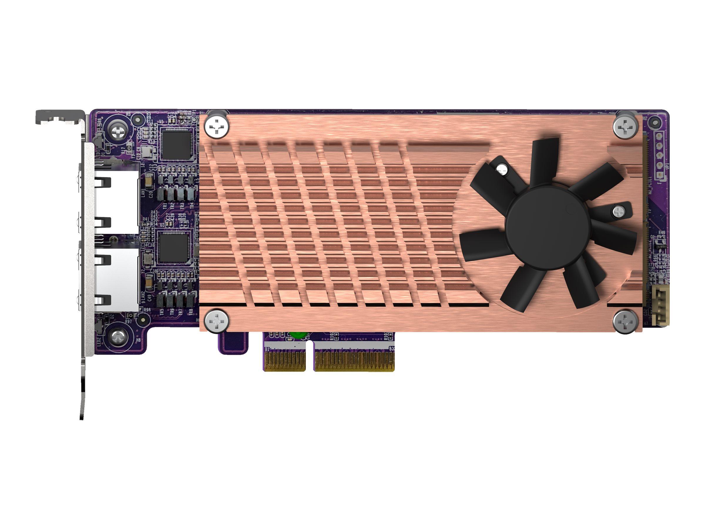 QNAP QM2-2P2G2T - storage controller - M.2 NVMe Card / PCIe 3.0 (NVMe) - PCIe 3.0 x4, 2.5 Gigabit Ethernet