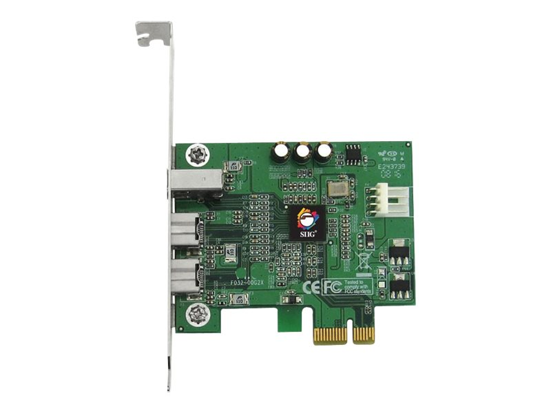 SIIG FireWire 800 3-Port PCIe - FireWire adapter - PCIe - 3 ports