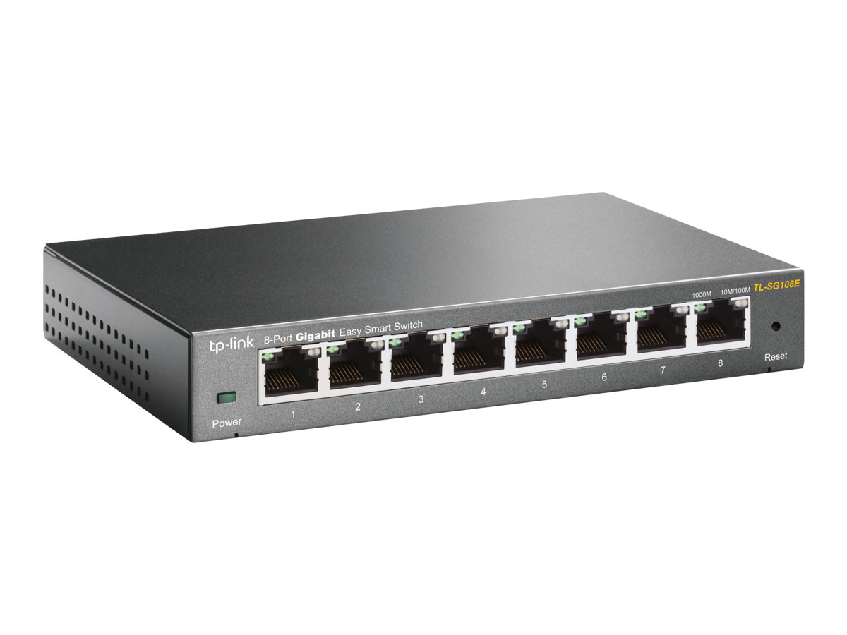 TP-Link JetStream TL-SG108E Easy Smart Switch - switch - 8 ports - unmanaged
