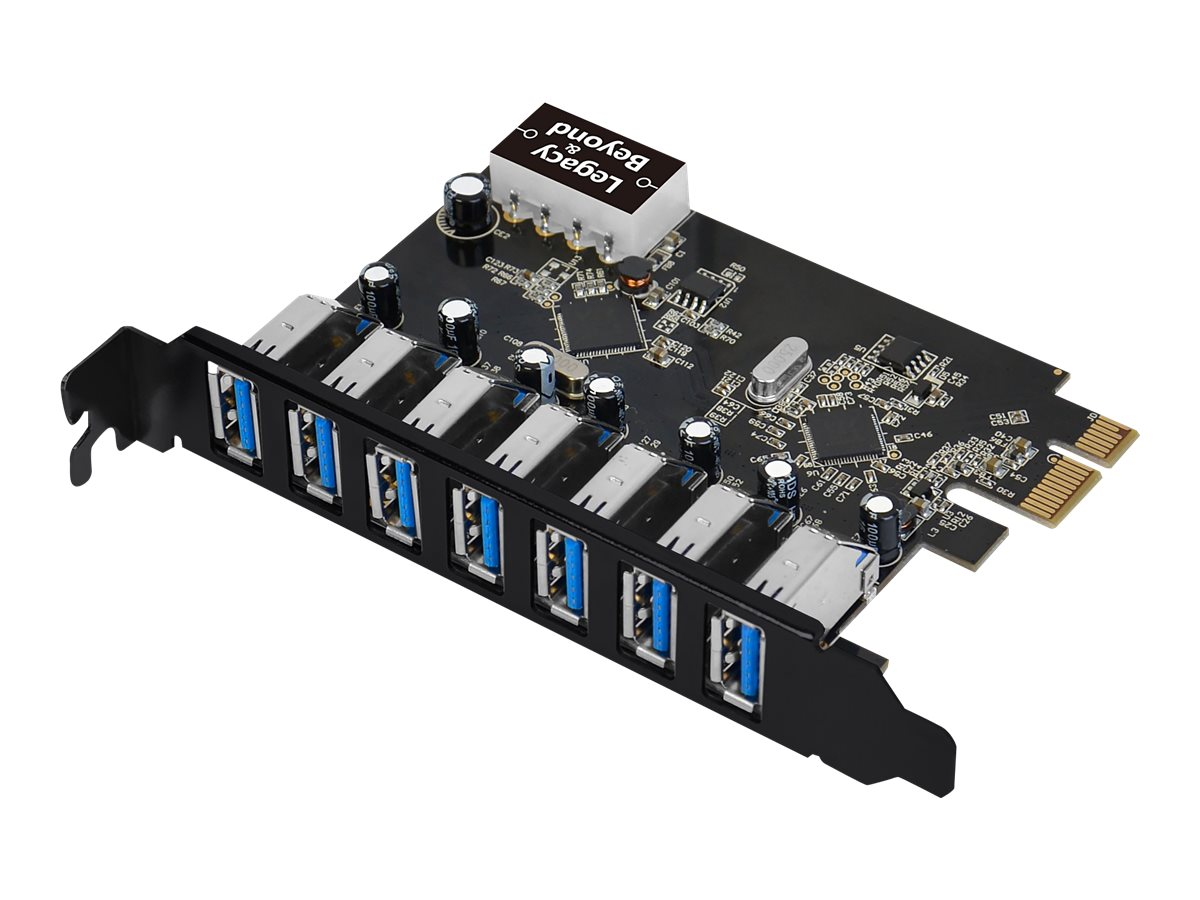 SIIG USB 3.0 7-Port Ext PCIe Host Adapter - USB adapter - PCIe 2.0 - USB 3.0 x 7