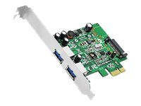 SIIG DP 2 Port USB 3.0 PCIe - USB adapter - PCIe 2.0 - USB 3.0 x 2