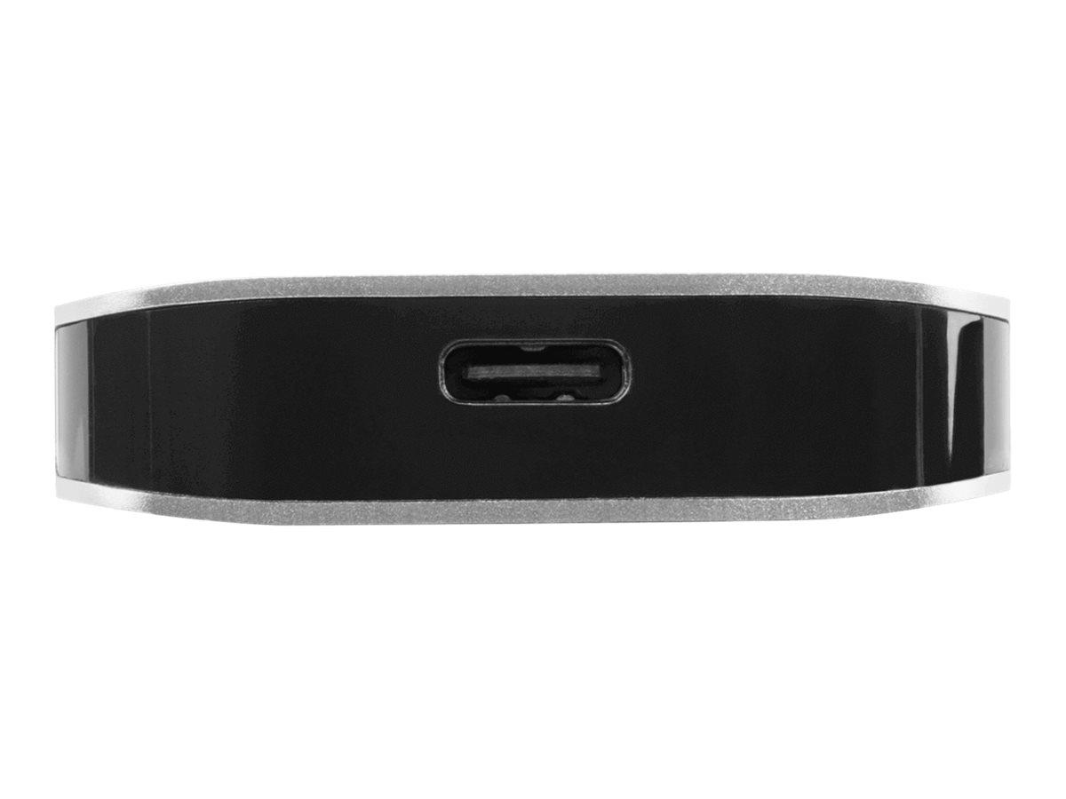 Targus USB-C Multi-Port Hub with Card Reader and 100W PD Pass-Through - hub - 3 ports
