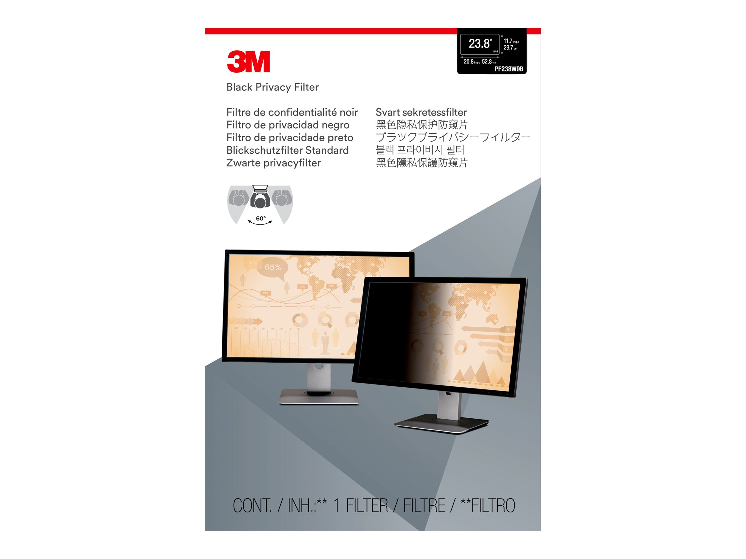 3M Privacy Filter for 23.8