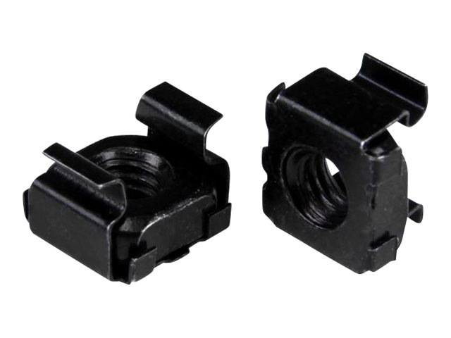 StarTech.com M6 Cage Nuts - 50 Pack, Black - M6 Mounting Cage Nuts for Server Rack & Cabinet (CABCAGENUT6B) cage nuts