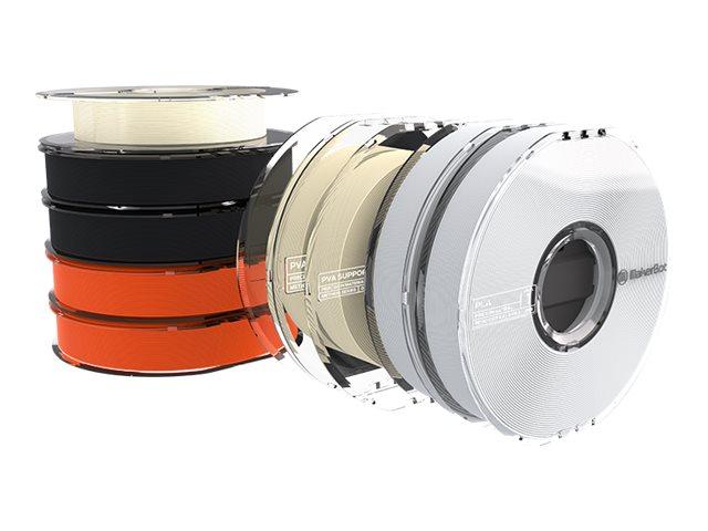 MakerBot - 9-pack - true white, true black, true orange - PLA/PVA filament