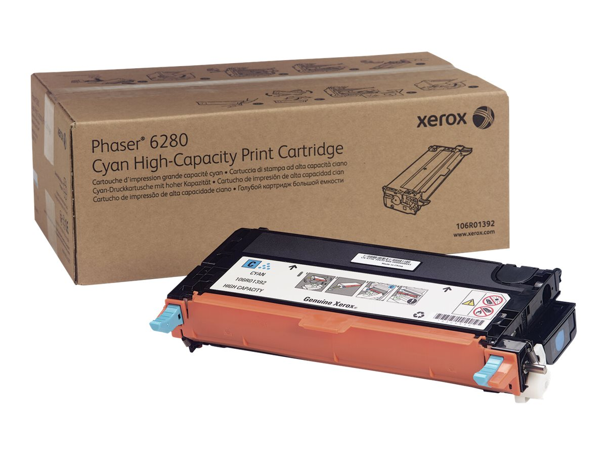 Xerox Phaser 6280 - High Capacity - cyan - original - toner cartridge