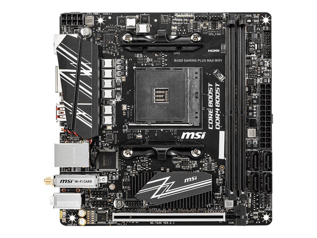 MSI B450I GAMING PLUS MAX WIFI - motherboard - mini ITX - Socket AM4 - AMD B450