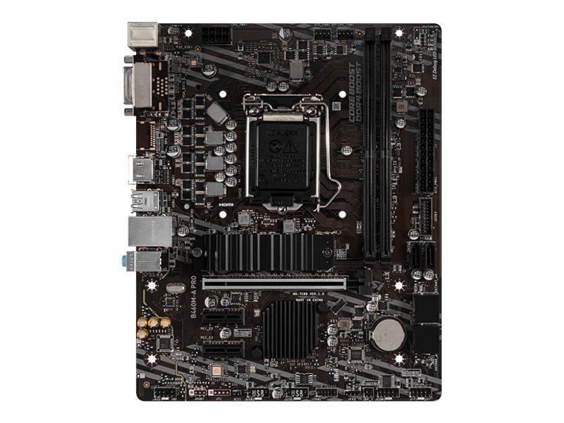 MSI B460M-A PRO - motherboard - micro ATX - LGA1200 Socket - B460