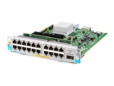 HPE - expansion module - Gigabit Ethernet (PoE+) x 20 + 40 Gigabit QSFP+ x 1