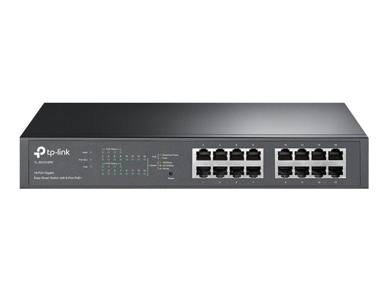 TP-Link Easy Smart TL-SG1016PE - switch - 16 ports - smart - rack-mountable